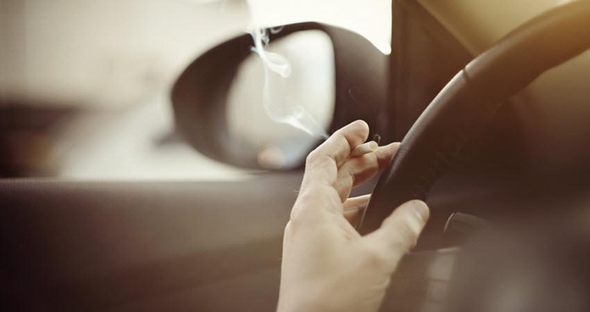 Cigarette Smoking in Car