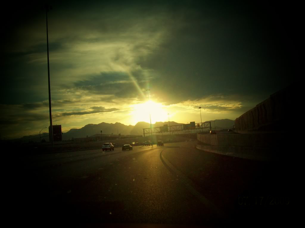 Sunset Over the Freeway